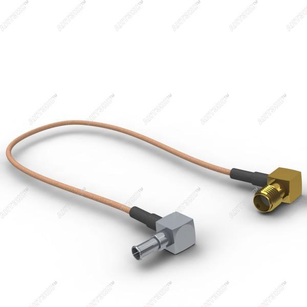 Антенный адаптер для USB 3G/4G модемов Huawei (SMA-fem.угловой - CRC9-121L угловой)